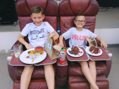 Devahn Fourie and Wayden Botha celebrating Wayden's 8th birthday at Aviators Brewery.